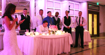 Bride Interrupts Speech To Tell 6 Confused Police Officers To Stand Behind Groom