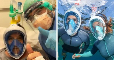 Creative Italian Engineers Turned Snorkeling Masks Into Life-Saving Ventilators