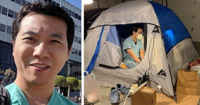 Doctor In California Lives In A Tent In His Garage To Social Distance From Family