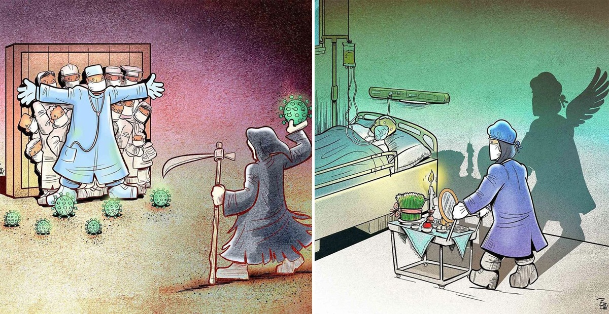 Artist Draws The Harsh Reality Of Doctors During The Pandemic In 31 Illustrations