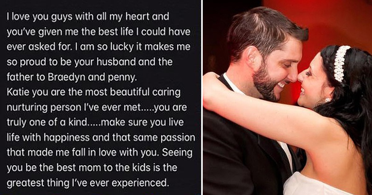 Dad Penned Heartbreaking Letter To Wife And Kids Before Dying