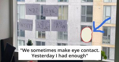 Man Has Been Making Accidental Eye Contact With His Neighbor, So He Decided To 'Talk' To Him
