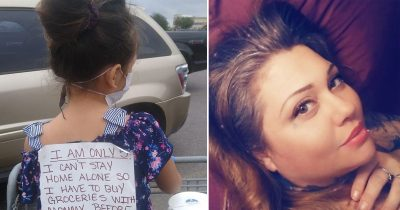 Mom Makes Her Daughter, 5, Tape A Note On Her Back In Supermarket So She Won't Be Shamed