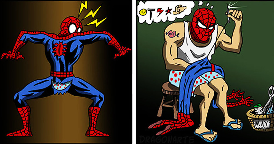 Artist Draws Everyday Life Of Superheroes In 35 Hilarious New Comics