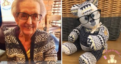 Woman Makes Lovely Memory Bears Out Of Old Clothes Of Her Customers' Lost Loved Ones