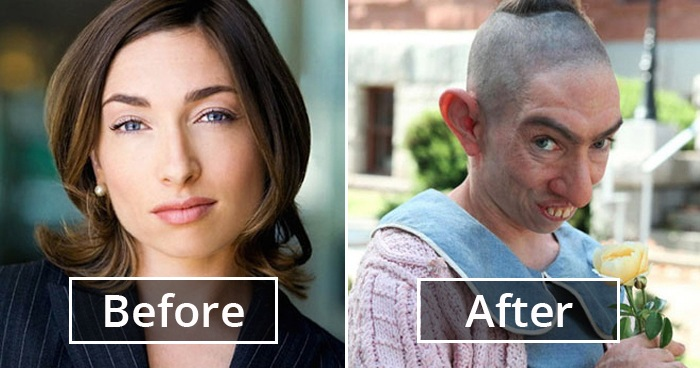 30 Amazing Transformations Of Actors After Applying Movie Makeup