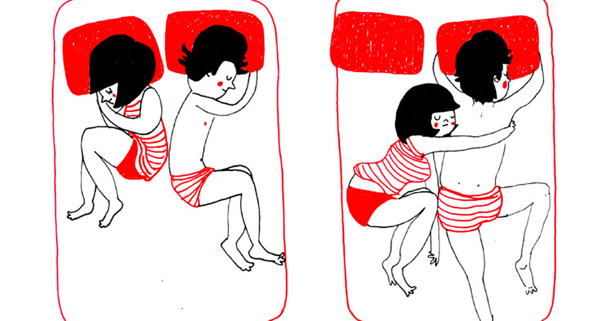 Lovely and cute illustrations of couple who enjoy the small things in life