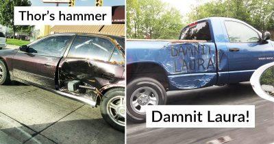 20 People Who Fixed Their Car Dents In Hilariously Creative Way