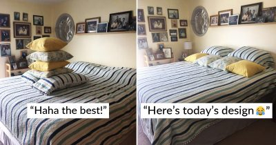 Woman Shares Husband's Hilarious Attempts To Make The Bed For The First Time In 45 Years