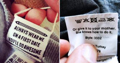 18 Hilarious Hidden Messages On Clothing Tags That You May Have Never Noticed