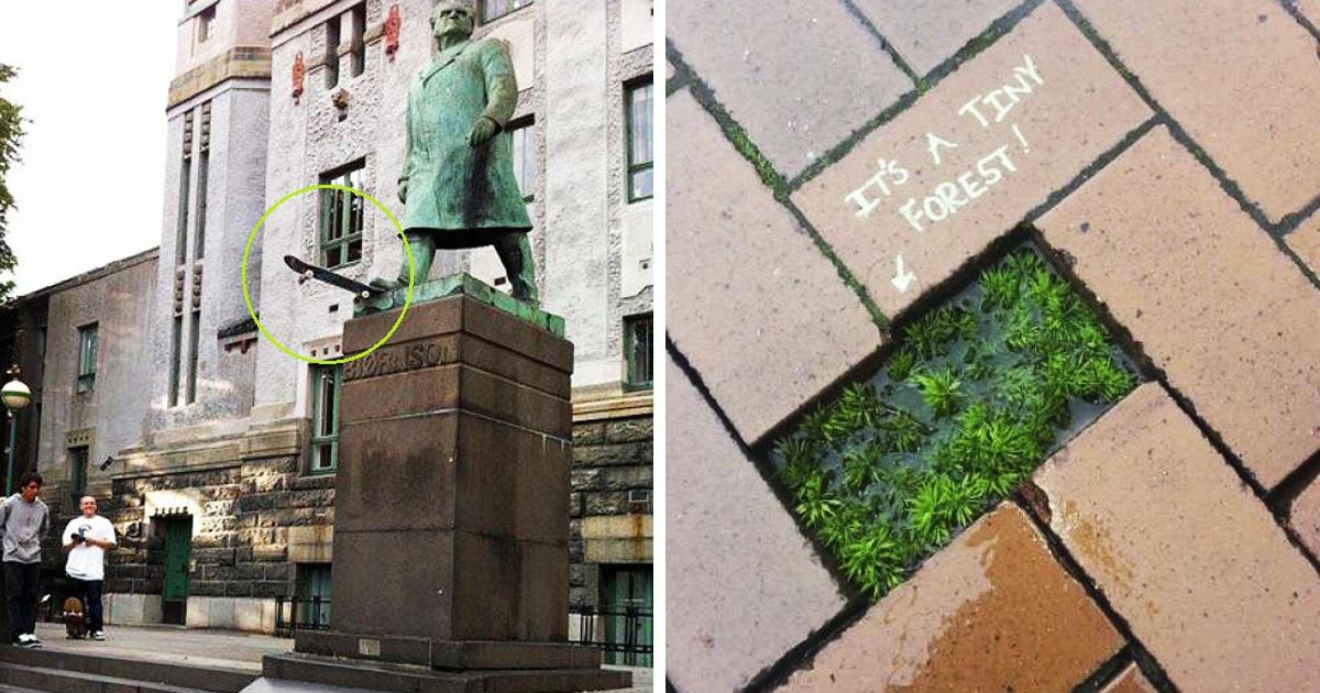 30 Random Acts Of Hilariously Genius Vandalism