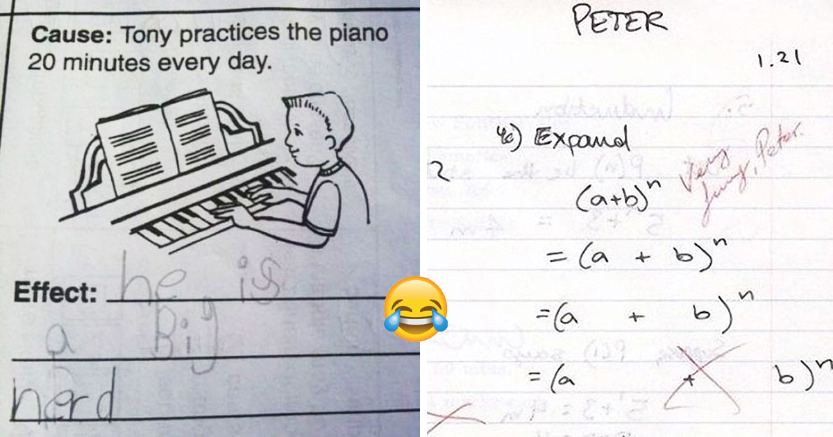 28 Hilarious Test Answers That Only Kids Can Ever Come Up With
