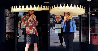 Burger King Hands Out Giant Crowns To Ensure Customers Are Six Feet Apart