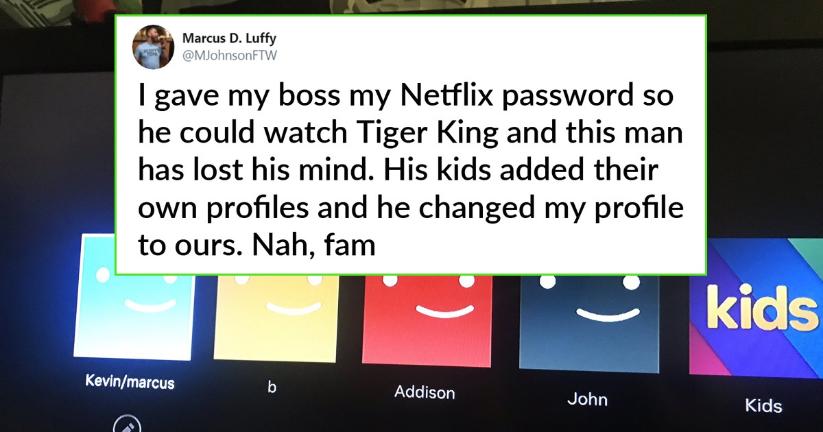 Guy Hilariously Slammed For Sharing His Netflix Account With Boss
