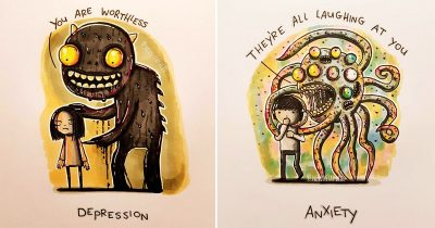 Artist Illustrates Mental Illnesses As Monsters To Raise Awareness