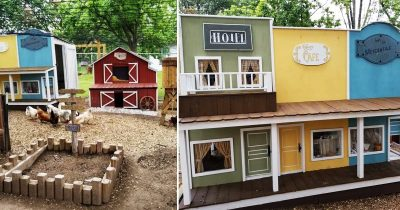 Husband Makes Mini Wild West Chicken Coop Town For Wife's Chicken, And It's Amazing