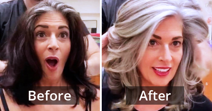 This Hairdresser Embraces Women's Gray Hair Look Instead Of Hiding It