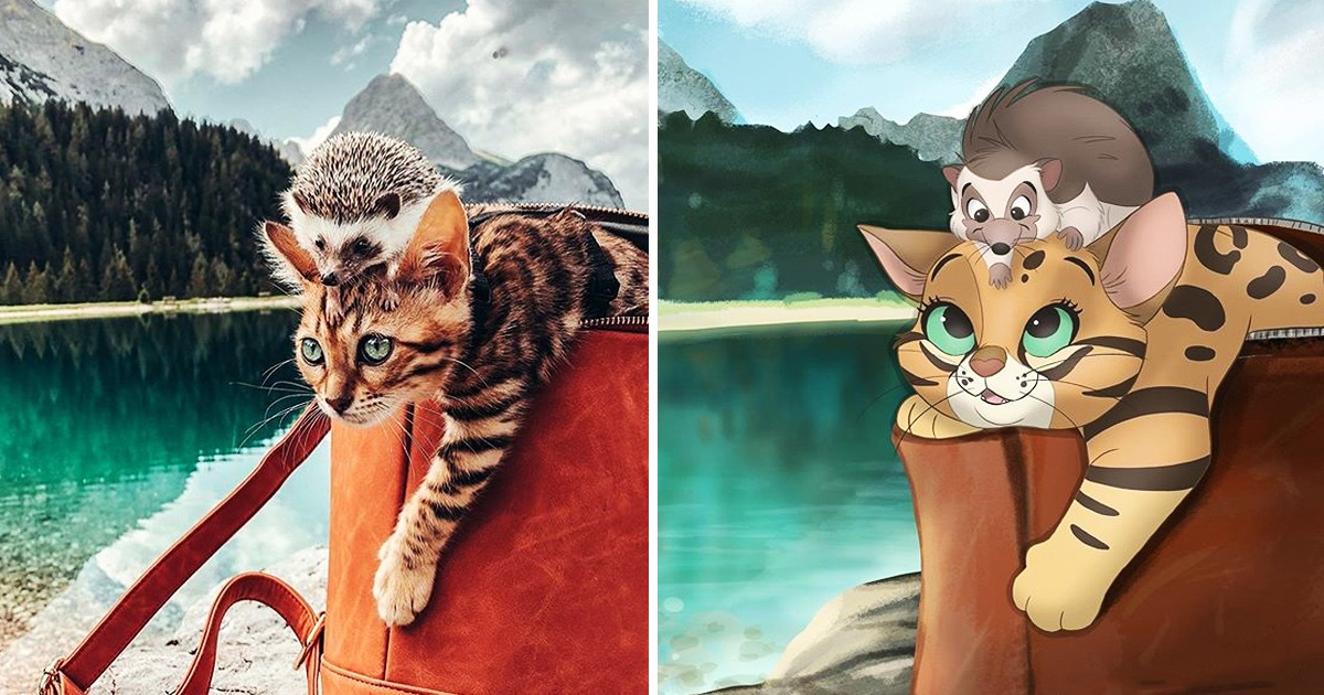 Artist Redraws Pet Pictures Her Fans Send Her And They Are So Cute