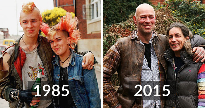Street Photographer Recreates Scenes He Captured Over 30 Years Ago With The Same People