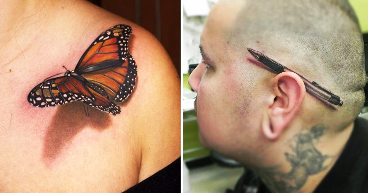28 Mind-Blowing 3D Tattoos That Will Make You Want To Get Inked