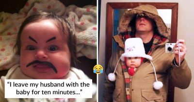 28 Hilarious Dads Who Absolutely Nailed Solo Parenting