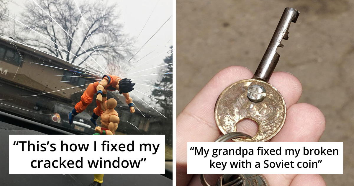 30 Brilliantly Creative Fixes People Made On Broken Objects