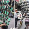 Taiwan's Pokémon Grandpa Mounts Up To 75 Smartphones On His Bike