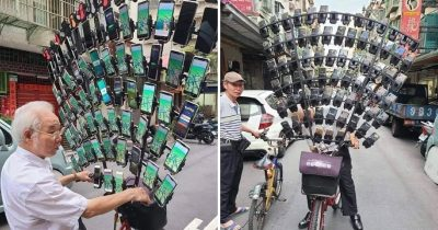 Taiwan's Pokémon Grandpa Mounts Up To 75 Smartphones On His Bike
