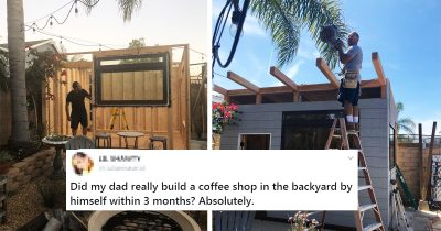 Dad Built His Own Cafe Within 3 Months In Backyard And Its Amazing