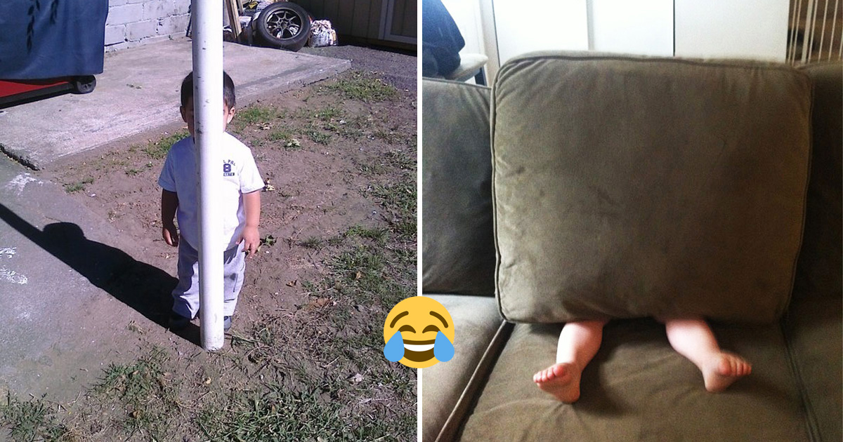 20 Hilarious Kids Who Have No Idea What They're Doing In Hide-And-Seek