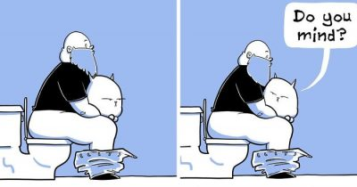 Artist Draws 30 Hilarious Comics About A Fat Man's Daily Life