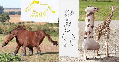 Dad Keeps Recreating Son's Drawings Into Real-Life Counterparts