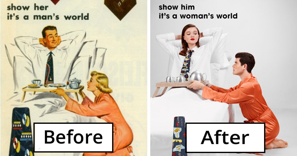 Photographer Gender-Swapped Roles In Sexist Vintage Ads