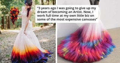 Woman Launches A Wedding Dress Business After Her Airbrushed Fire-Themed Gown Goes Viral