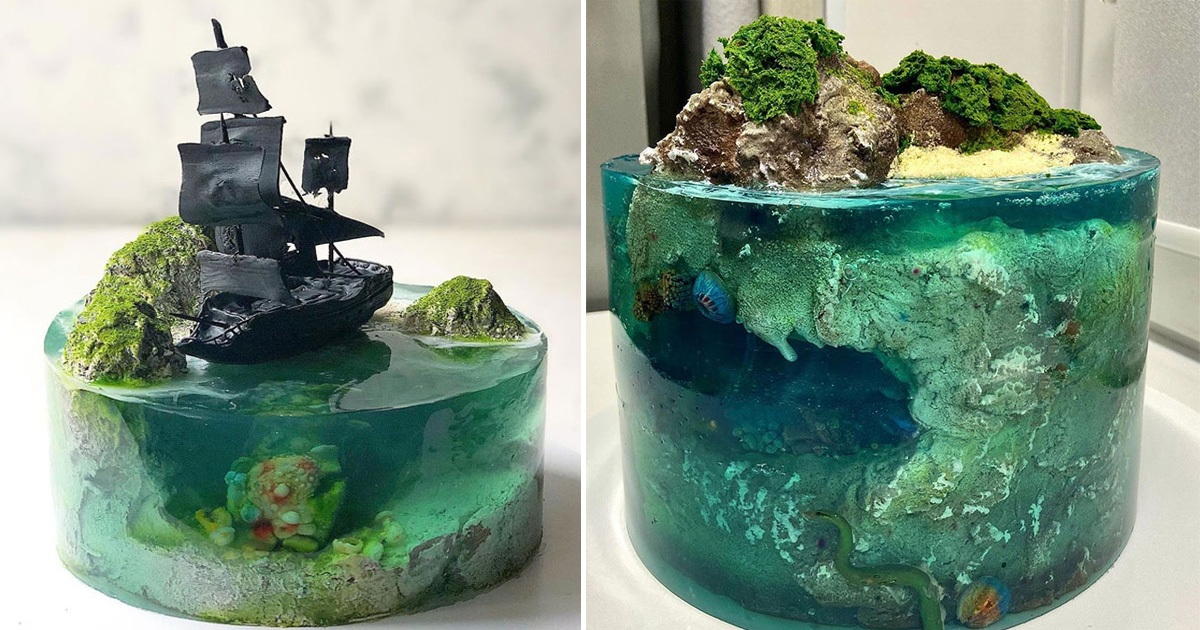 30 Hyper-Realistic Paradise Island Cakes Made By Brilliant Bakers