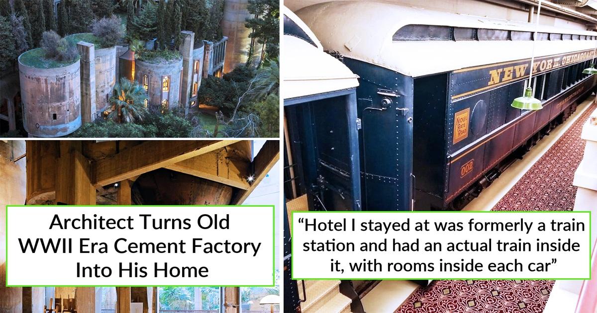30 Genius Architects repurposed Old Buildings Into Dream Places