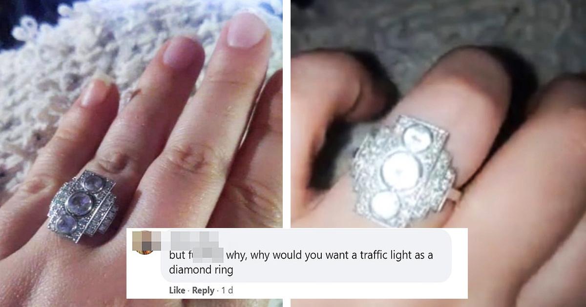 Bride Hilariously Slammed For Her Bizarre Engagement Ring
