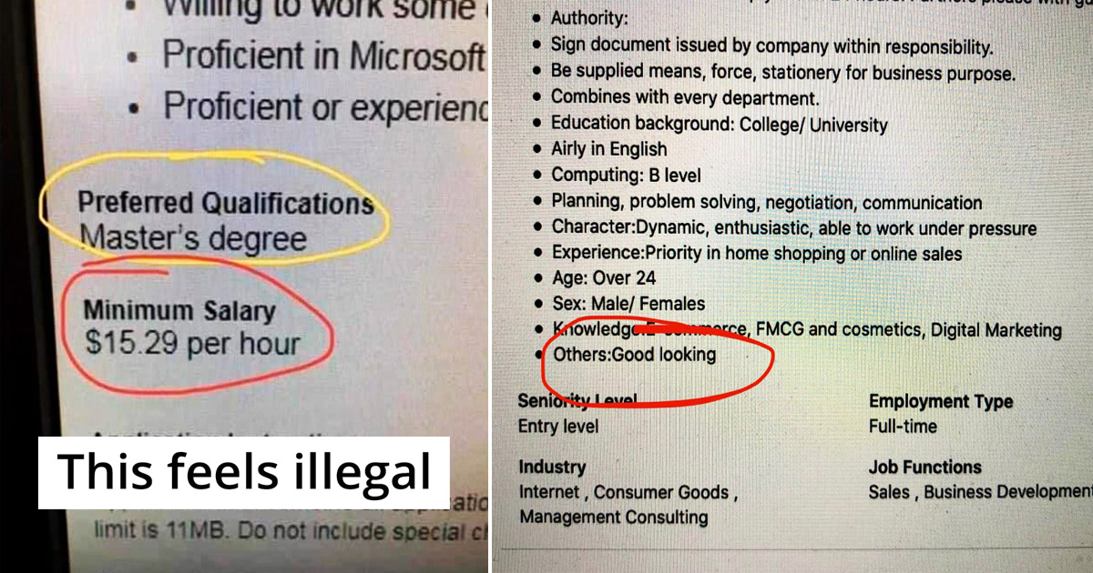 25 People Shared Hilariously Unrealistic Expectations By Recruiters