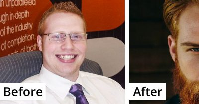 Barber Advised This Shy Insurance Guy To Grow A Beard, And It Totally Changed His Life