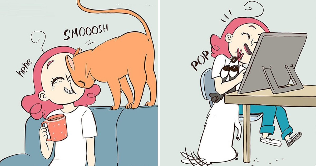 Artist Illustrates Hilarious Comics About Cats And Dogs