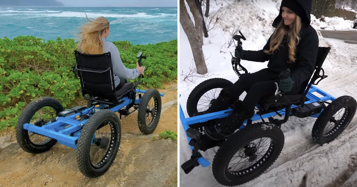 YouTuber Made Off-Road 'Wheelchair' For Girlfriend And It's Now Being Mass-Produced