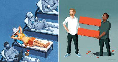 Artist's 30 Powerful Illustrations That Draw The World Issues