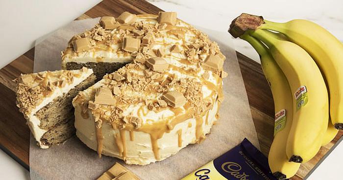 People Are Going Crazy For This Cadbury Caramilk Banana Cake Recipe