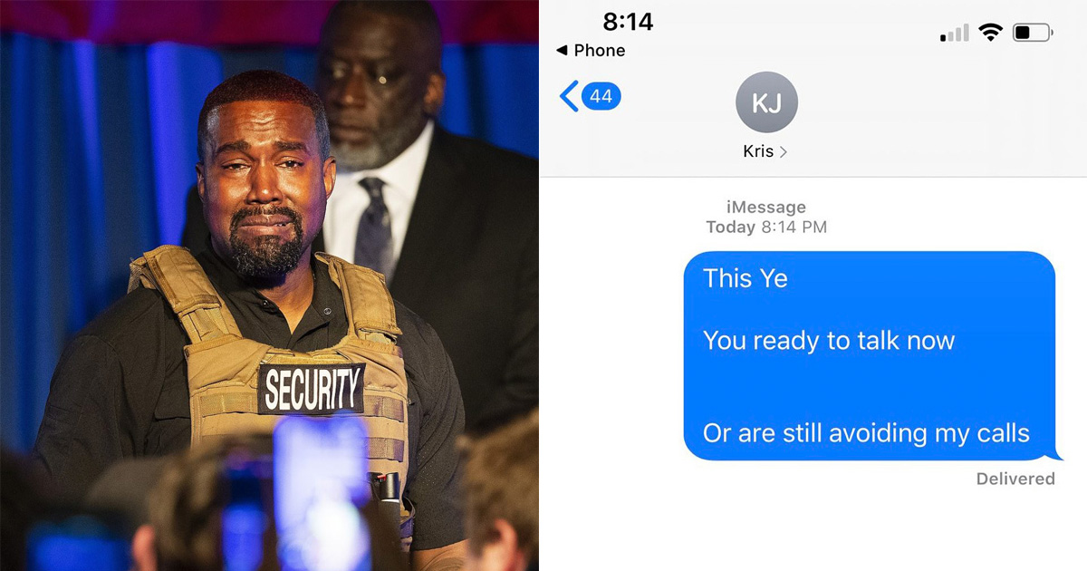 Kanye West Went Rampage On Twitter Saying Kris And Kim Kardashian Are Out To Lock Him In A Ranch
