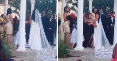 Baby Mama Crashes Wedding Just As Groom Is Set To Exchange Vows