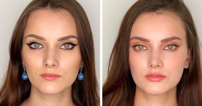 30 Pics Show How Women Do Their Own Makeup Vs. How A Makeup Artist Does It