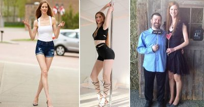 Six-Foot-Four Model Who Married A Man Six Inches Shorter Than Her Gets DMs From Men Asking To Climb Her