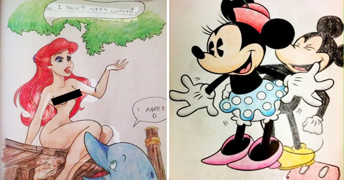 This Is Why You Don't Let Husband Color Disney And Kids Cartoon Characters