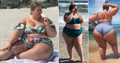 Woman Who Used To Starve Herself To Lose Weight Flaunts Her 300lb Body In Bikinis