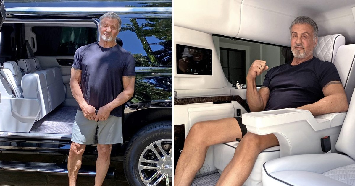 Sylvester Stallone Puts His 2019 Stretched Cadillac Escalade For Sale For $350K